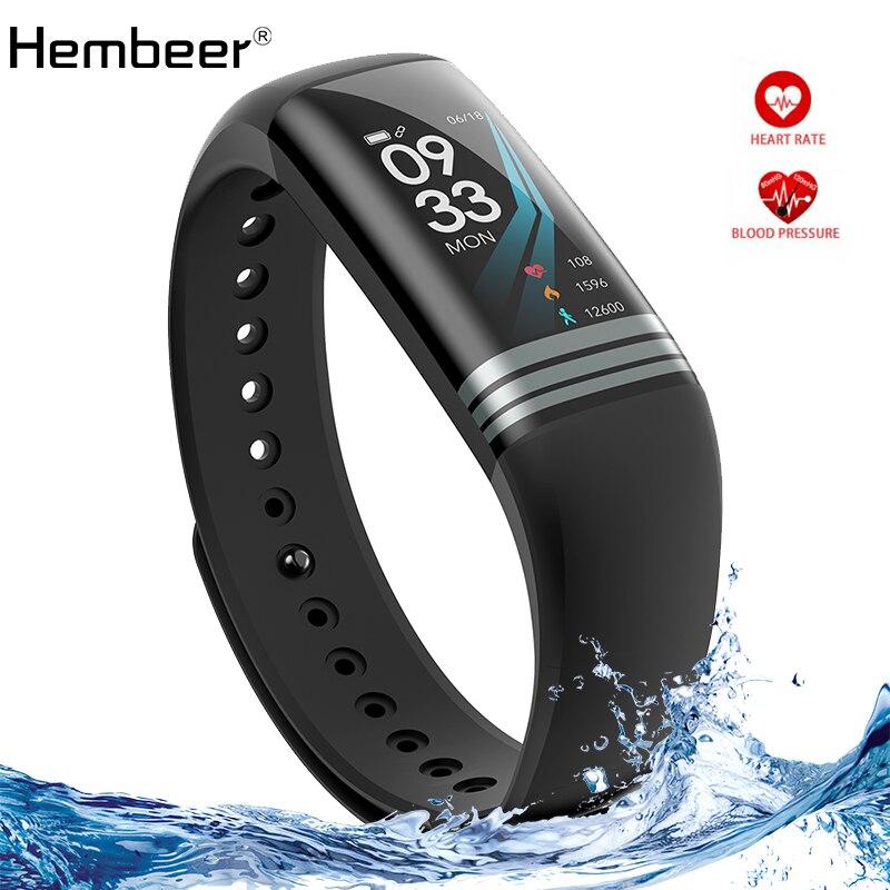 Hembeer H26S Braccialetto Intelligente Dello Schermo a Colori da 0.96 pollici Per Il Fitness Cronometro Banda Heart Rate Monitor di Pressione Sanguigna Orologio pk fitbits