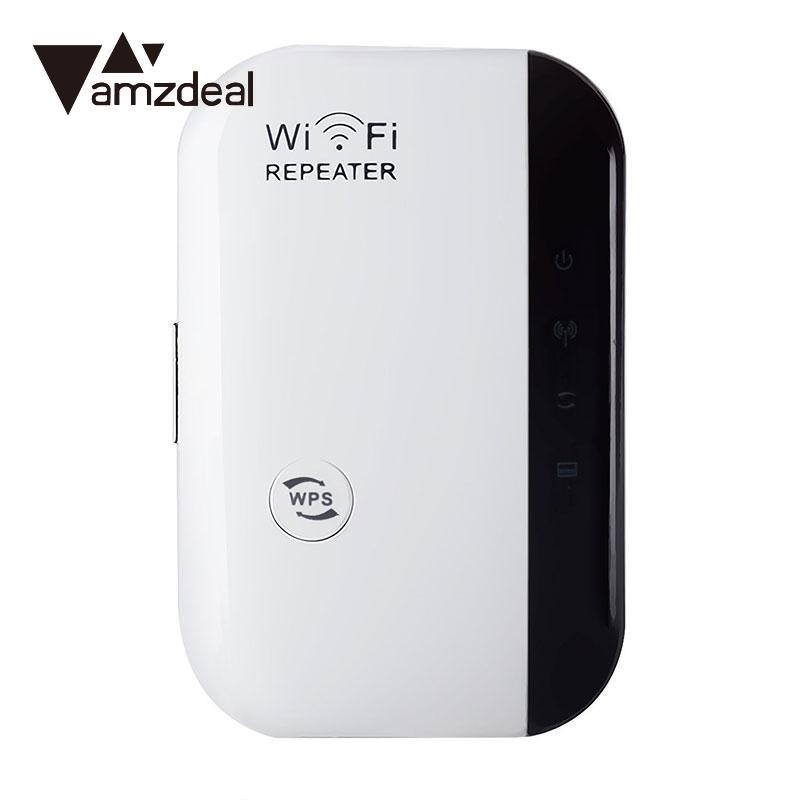 AMZDEAL Portable Mini 2.4Gh Wifi Repeater Wireless AP Range Signal Amplifier for Wifi Wireless Router wireless adapter AU Plug