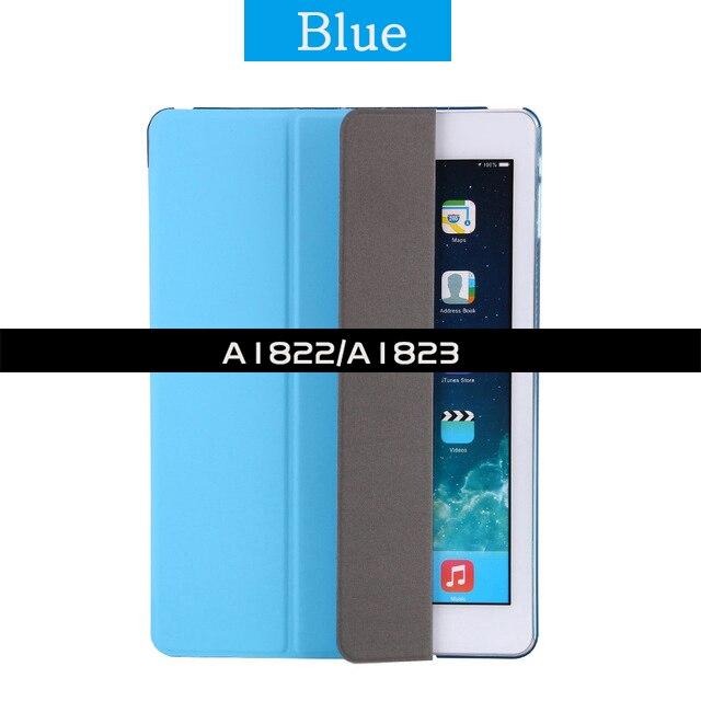 Ультратонкий Магнитный чехол для iPad 9,7 A1822/A1893 умный чехол из искусственной кожи чехол для автоматического сна/пробуждения 6-го поколения - Цвет: For iPad 2017