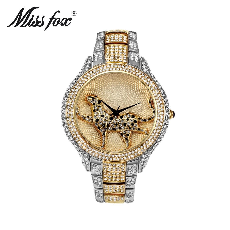 Panna lisa zegarek trójwymiarowy lampart diament wodoodporny zegarek - Zegarki damskie - Zdjęcie 3