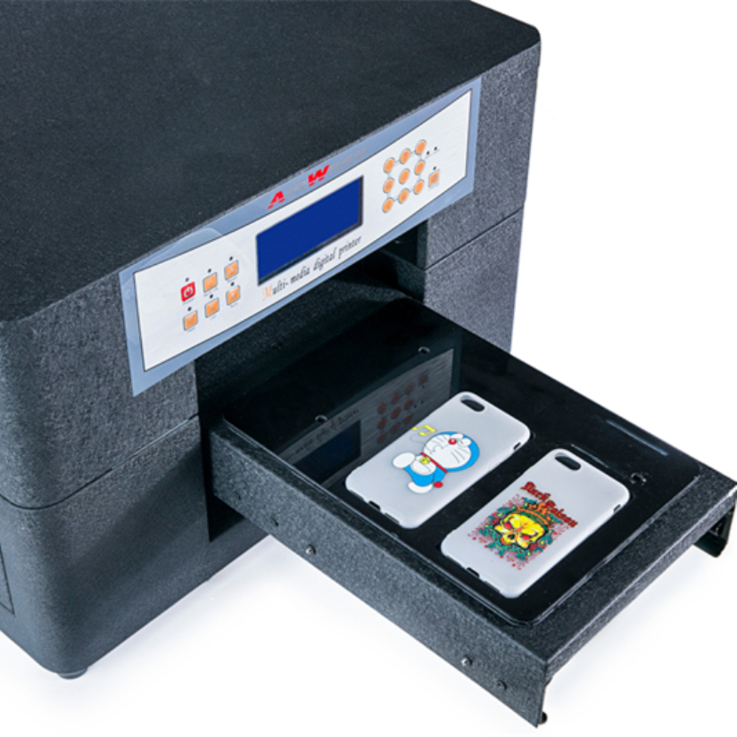 Factory Wholesale Price Multicolor  Flat Uv Printer A4 Size  For Phone Case , Shell Earrings