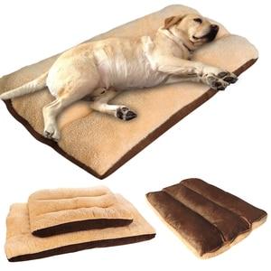 Image 1 - 大型犬のベッド暖かいペット子犬ハウスクッションソフト小屋の巣ソファマット毛布中大犬ゴールデンレトリバーラブラドールビッグ