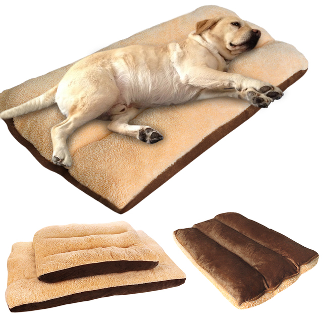 Cama grande para perro, cojín cálido para cachorro, caseta suave, estera de sofá, manta para perros medianos y grandes, Golden Retriever Labrador grande