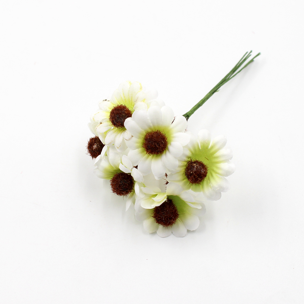 6pcslot silk mini cute artificial cartoon daisy bouquet for wedding 6pcslot silk mini cute artificial cartoon daisy bouquet for wedding home decoration diy wreath gift box craft flowers in artificial dried flowers from izmirmasajfo