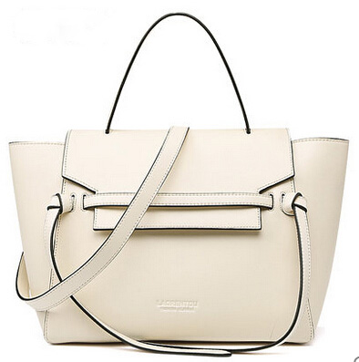 laorentou cowhide leather tote women handbag with shoulder straps lady s bag women bag