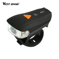 WEST BIKING USB Rechargeable Bike Light Front Handlebar Cycling Led Battery Flashlight Torch Headlight Bicycle Accessories