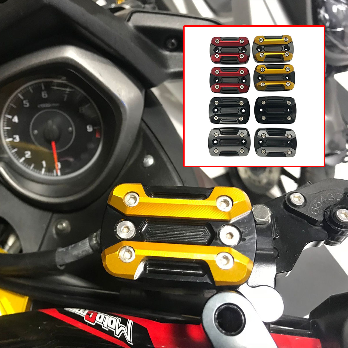 CNC XMAX 300 Brake Clutch Oil Fluid Reservoir Oil Cap Cover Tank For Yamaha XMAX250 300 400 125 2017-2019 Motorcycle Accessories
