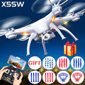 100% Original Syma X5S X5SC X5SW wi fi antena RC Quadcopter FPV Drone de 2MP câmera HD 2.4 G 6-Axis sem cabeça VS H107D H8D helicópteros
