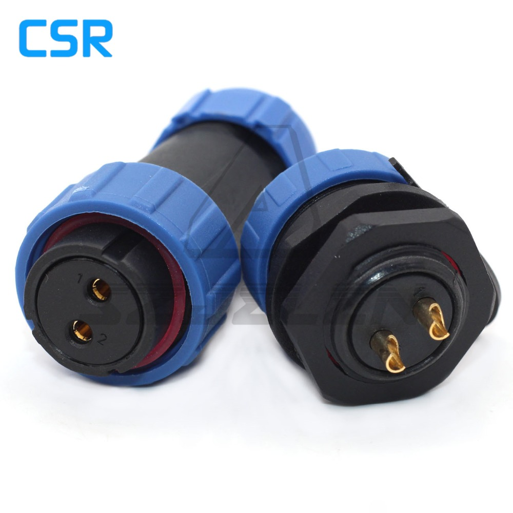 SP21 Waterproof connector 2 pin ,IP68, waterproof plug and socket 2 pin,Industrial Equipment Power aviation plug купить недорого в Москве