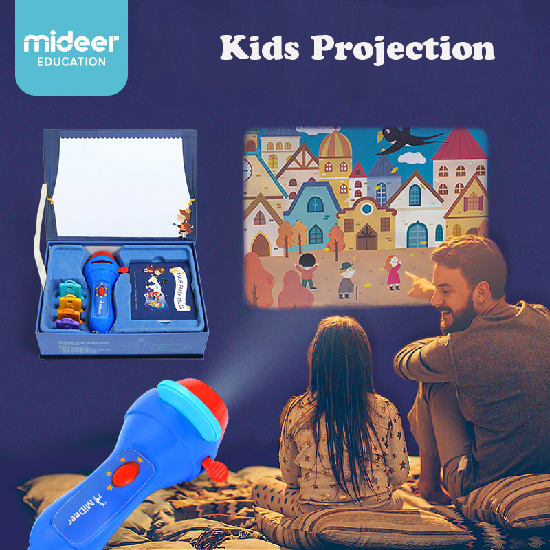 Children Mini Projector Toy Kids Story Book Torch with Four English Stories Telling Fancy Games Early Learning Toys Gift action figure pokemon