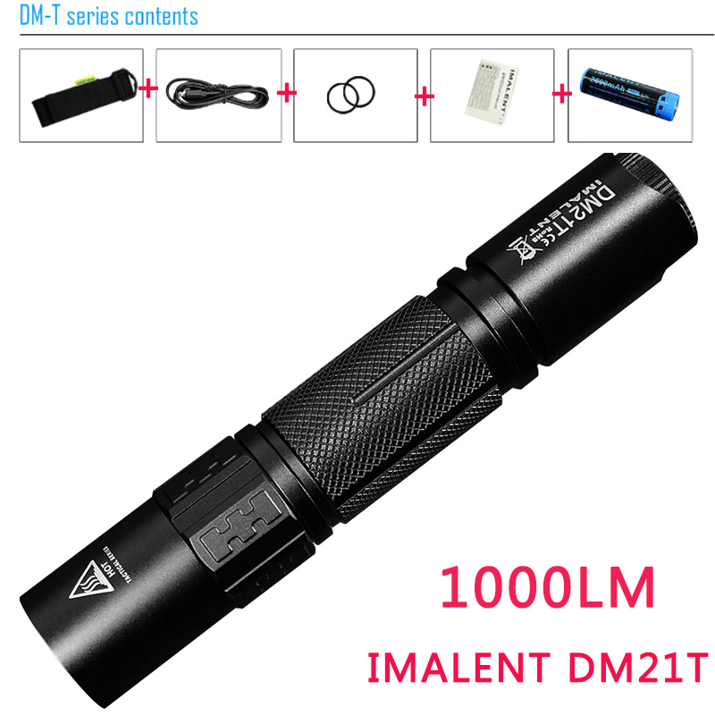 IMALENT DM21T CREE XPL HI LED Tactical Flashlight for Self-defense Tactical Searching 18650 Battery Flash Light Torch Luxury Kit new klarus xt11gt cree xhp35 hi d4 led 2000 lm 4 mode tactical led flashlight free usb port and 18650 battey for self defence