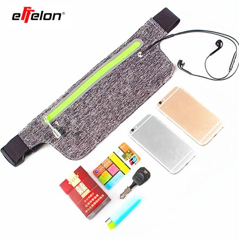 Effelon Ultra Slim открытый спортивная сумка лайкра дышащий Бег карман 4-6 дюймов Universal Music мобильный телефон поясная карманов