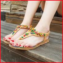 Women-Sandals-2016-36-40-Comfort-Sandals-Women-Summer-Bohemia-String-Bead-Fashion-Flat-Plus-Size