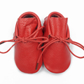 Red Boot Footwear Tassel Genuine Leather Baby Soft Shoe Lace-up Baby Moccasins Toddler Shoe Newborn Slip-On Booties First Walker