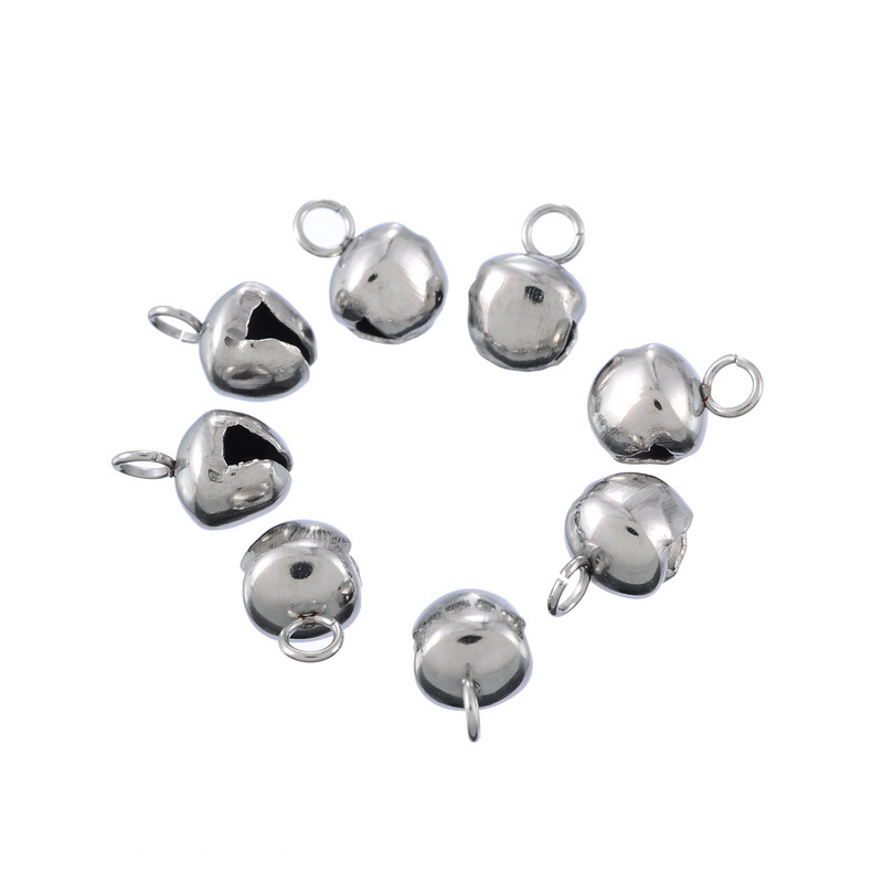 MJARTORIA 20PCs Bell Pattern Charms Stainless Steel Suspension Charms For Bracelets Necklaces Crafts DIY Jewelry Accessories