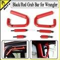 1Pair/Piece pcs High-Strength Solid Steel Grab Bar Front Rear Grab Handle for Jeep Wrangler JK 2 & 4 Door 2007-2015