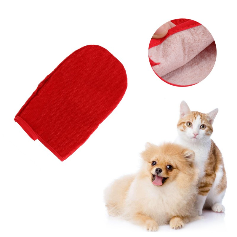 Cat Dog Pet sticky hair gloves Clothing dusting brush Sticky brushs Bristles device Anti static Hair removal artifact AA in Cat Grooming from Home Garden