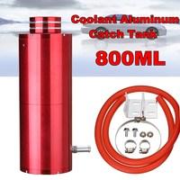 800ml Red Universal Cylinder Radiator Coolant Aluminum Catch Tank Overflow Reservoir Kit