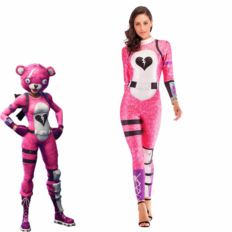 Cuddle Team Leader Sexy fashion Costume Women Battle Royale clothing set Adult Halloween Carnival Costumes Fantasia clothes set