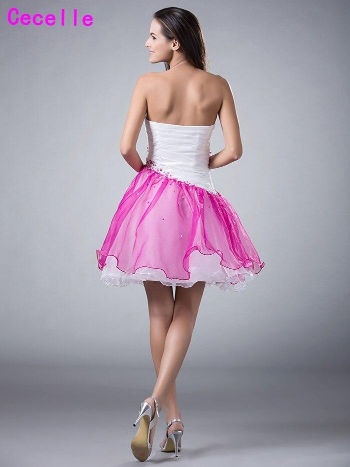 Niñas 2017 corto blanco Homecoming Vestidos de baile cariño dos ...