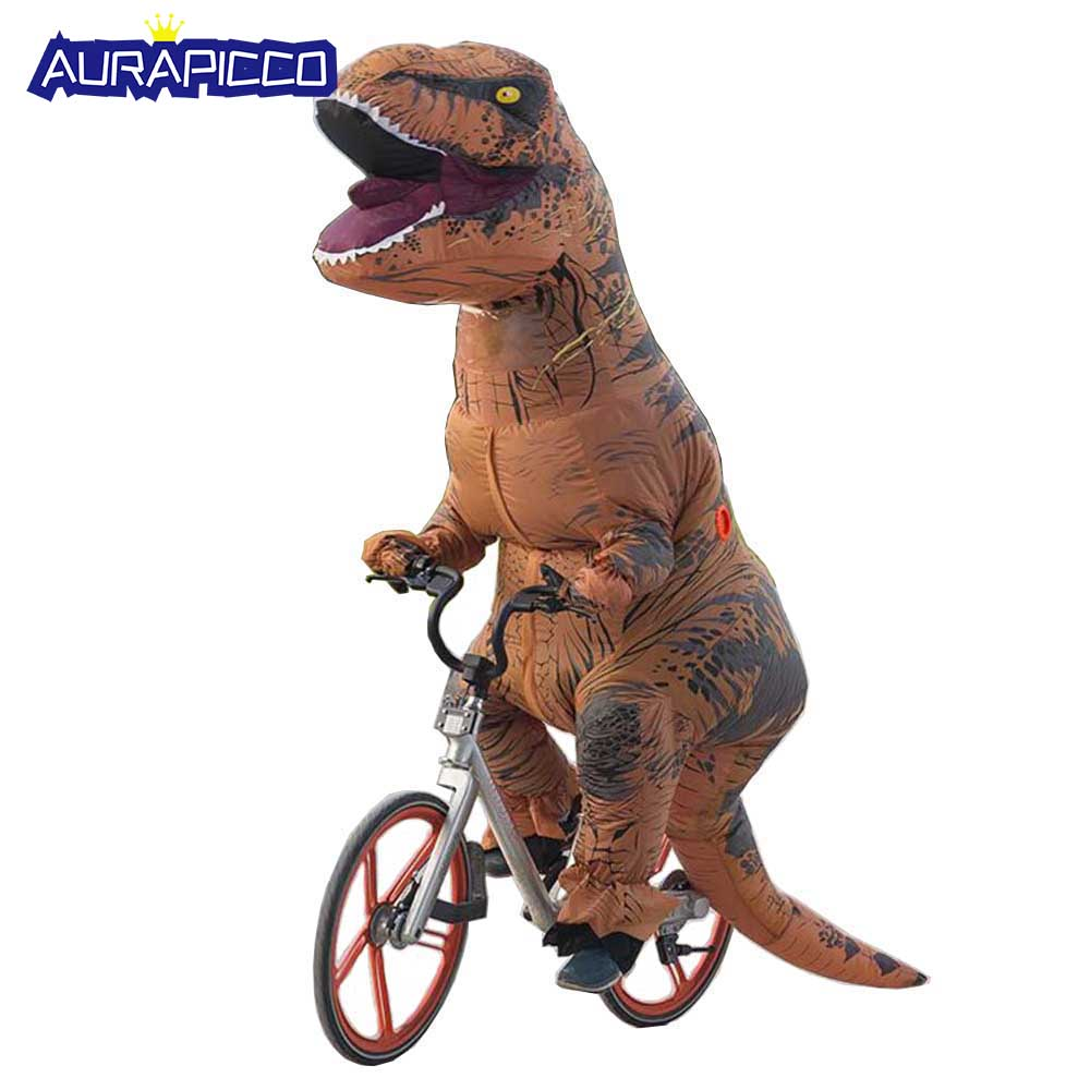 T-REX Costume Inflatable Adult Dinosaur Costume For Anime Expo Traje De Dinosaurio Inflable Blowup Disfraces Kids Cosplay