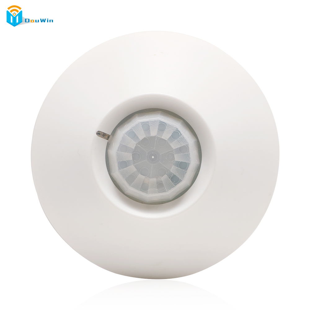 Indoor 360 degree ceiling PIR motion detector infrared sensor light switch NC NO output options PIR Alarm intruder from DouWin wireless 360 degree ceiling pir detector motion sensor infrared for house home gsm alarm system