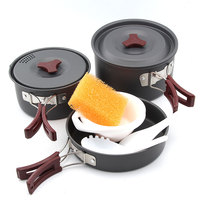 Fire Maple FMC 202 2 3 Persons Camping Cooking Set Pot Camp Cookware Picnic Outdoor Cutlery