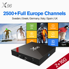 X96W HD IPTV Box Android 7.1 S905W Quad Core Set Top IUDTV IP TV Germany UK Italy Spain Sweden Nordic Greek