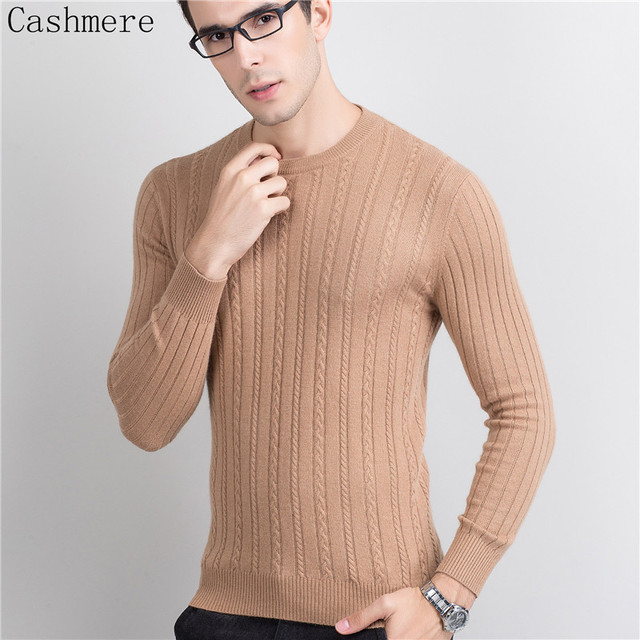 Winter Thick Men Sweater O neck 100% Cashmere Pullovers High Grade New Warm Jumper Noble Fashion clothes Standard Tops for Male