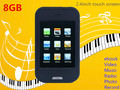 8GB 2.4 inch Touch Screen MP3 Player metal housing MP5 FM Radio Speaker Video ebook photo Record MP4 Player free shipping