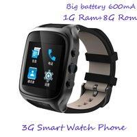 Премиум Версия 1 г Оперативная память 8 г Встроенная память 3G Смарт часы телефон с Android V5.1 сим карты Поддержка WI FI GPS сердечного ритма 320*320 720 P К