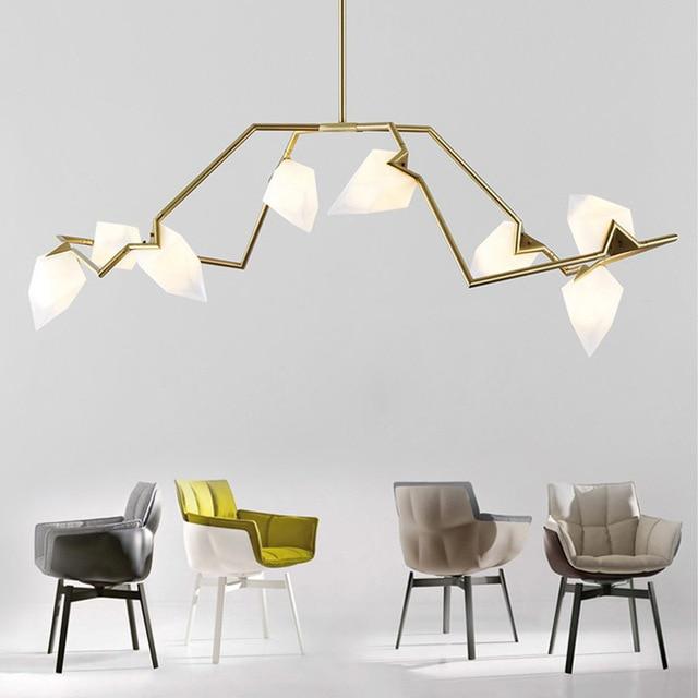Nordic Art Deco Seed Chandelier Lighting 8/12 Heads Glass Shade ...