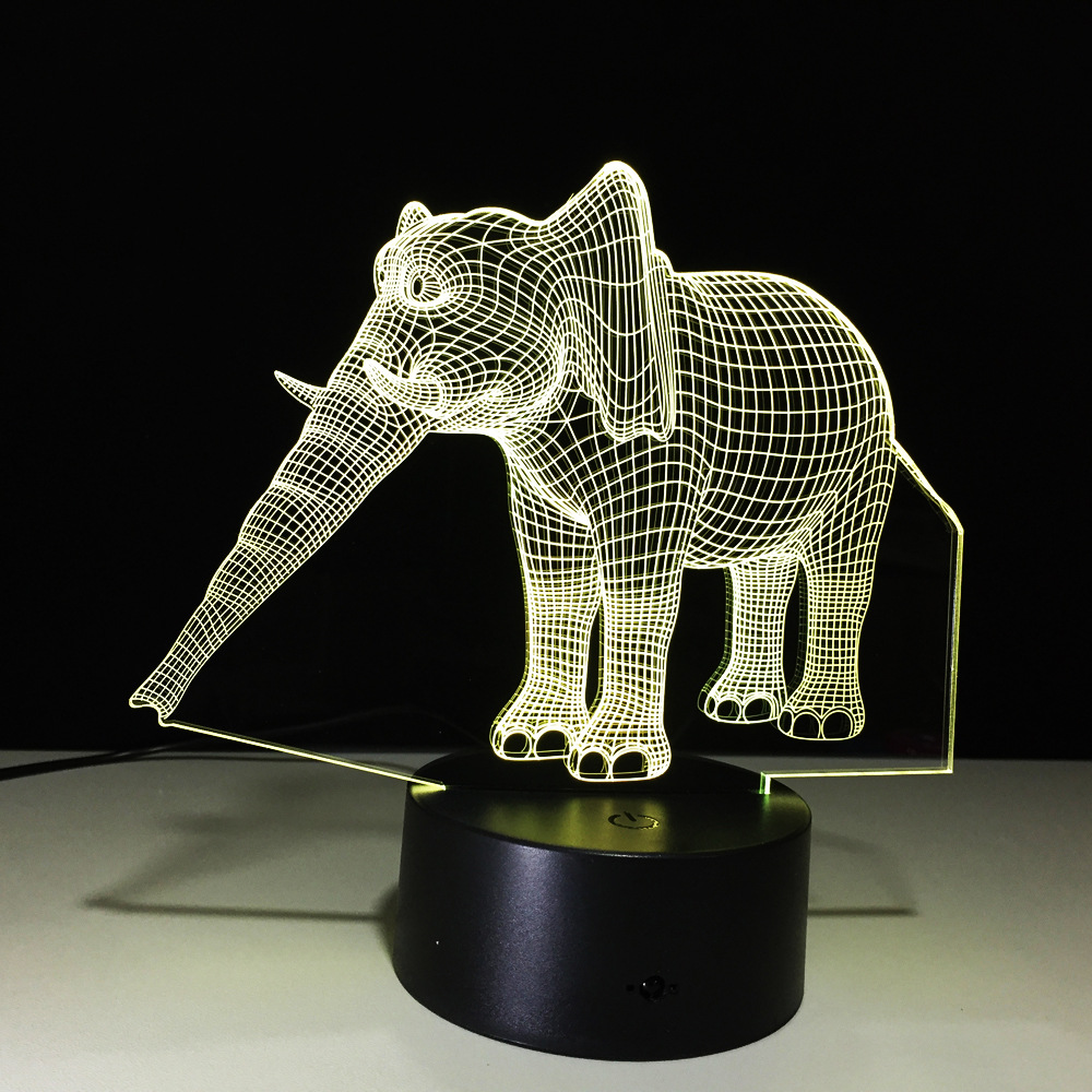 Powerbank Closet Night Battery Lamp Motion Luminaria Led Night Light Novelty Elephant Usb Led Nightlight Baby