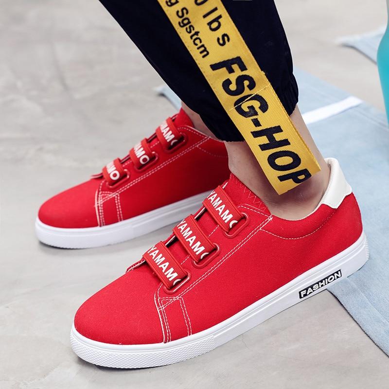 Espadrilles 2018 Noir Chaussures Hombre Casual Mode Toile De rouge blanc Zapatos Hommes Couple Léger 8qTRFZx