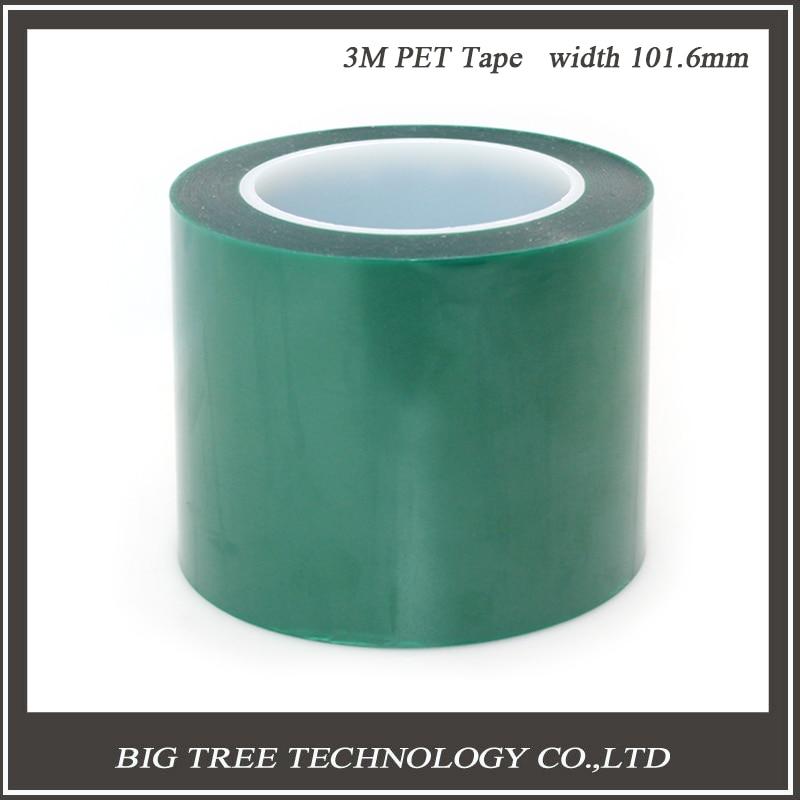 ФОТО BIQU  High Quality And New  1PC PET Film 101.6mm Width 66m length  Green PET Tape High Temperature Heat Resistant 3d0388
