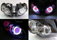 Angel Eye HID Projector Demon Eye Headlight Assembly For 2008-2011 Honda CBR1000RR angel eye повседневные брюки