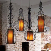 free shipping 60022S North European style creative bird cage pendant lamp lighting