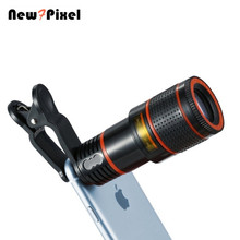 Phone photo telescope 8X times telephoto HD phone eyepiece universal lens for iphone X 8 7 6 s xiaomi HUAWEI Samsung smart phone