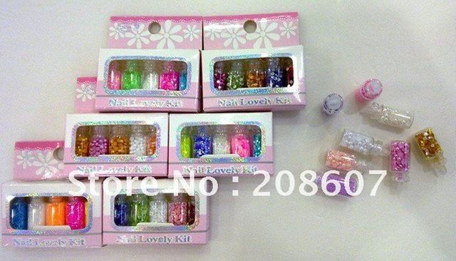Free-Shipping Nail Art Nail Decoration Nail Supplies 10sets/lot  Gorgeous Nail Laser Sequins Flash Chip Glitter