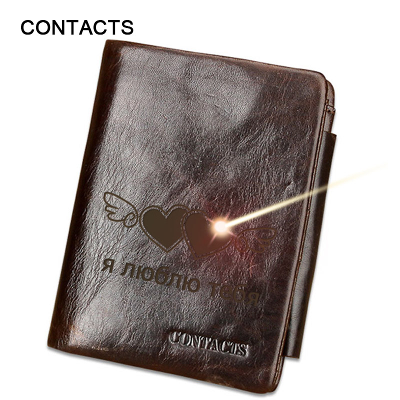 a708b35536c53 Personalized Brand Men Vintage Leather Wallets Man Crazy Horse Leather  Trifold Wallets Male Zip Coin Pocket Leather Purse M1002B-in Wallets from  Luggage ...