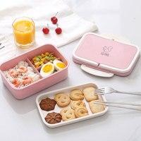 Ланч-бокс из пшеничной соломы простой Bento box Портативный экологичный контейнер для хранения еды для Детей школьников Microwavable