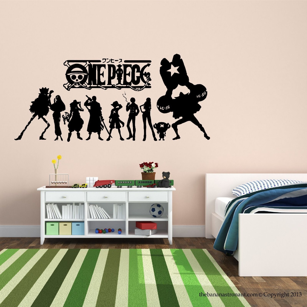 Aliexpress Buy One Piece Japanese Anime Wall Decal Stickers