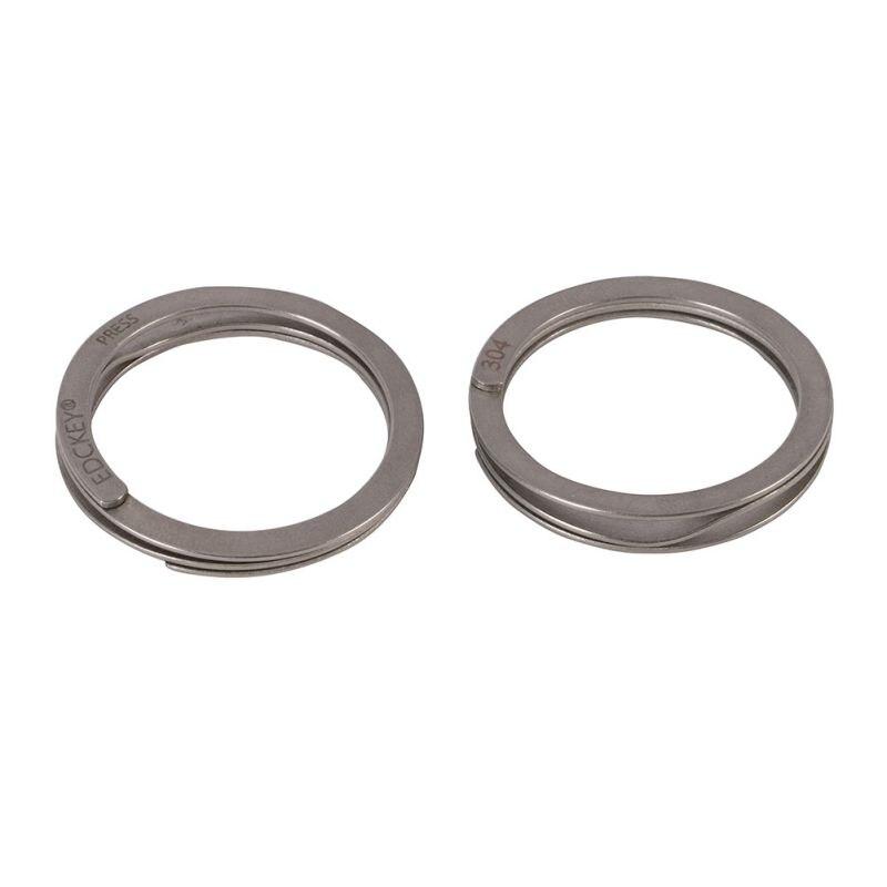 2 Pcs Titanium Key Ring, Titanium Ti Split Keychain EDC Keyring Circle outdoor t