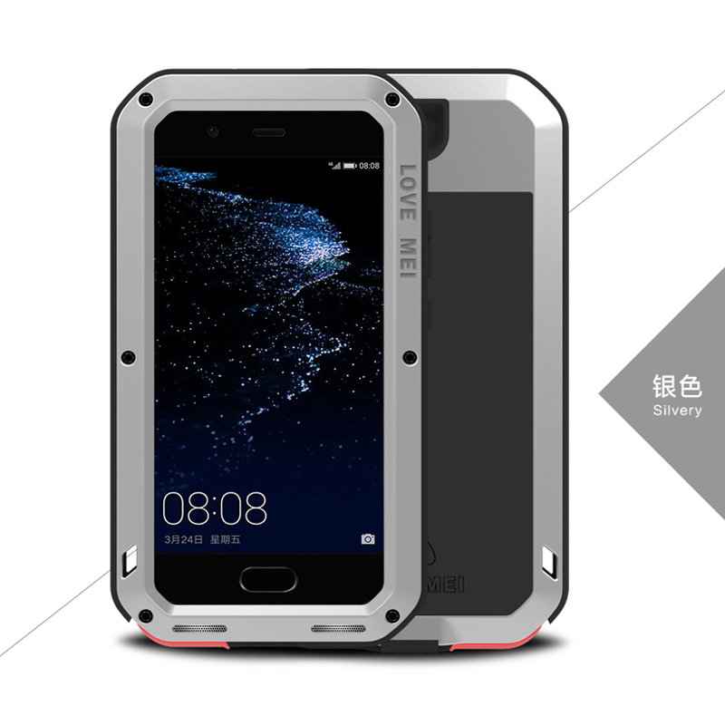 Image 5 - Love Mei Metal Aluminum Phone cover for huawei P10 Phone case 2017 waterproof Shockproof armor rugged Gorilla Glass phone cases-in Fitted Cases from Cellphones & Telecommunications