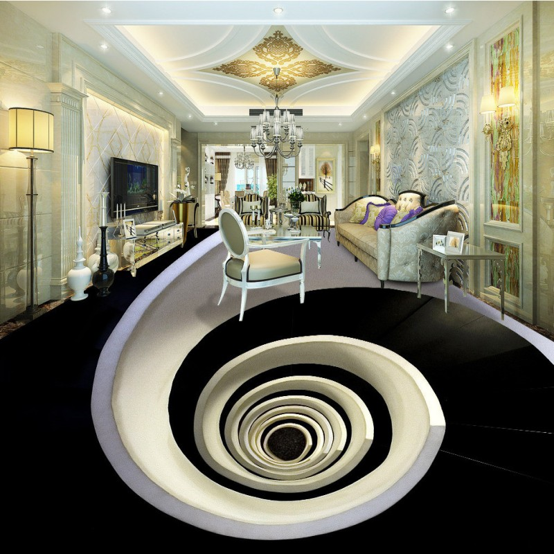 Free shipping custom floor mural anti-skidding self-adhesive thickened living room Rotate bathroom bedroom 3D floor wallpaper free shipping flooring custom living room self adhesive photo wallpaper wonderland lotus pool 3d floor thickened painting flower