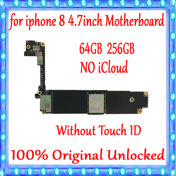 No iCloud For iPhone 8 4.7inch Motherboard 64GB / 256GB 100% Original Unlocked For iPhone 8 MainBoard Without Touch ID