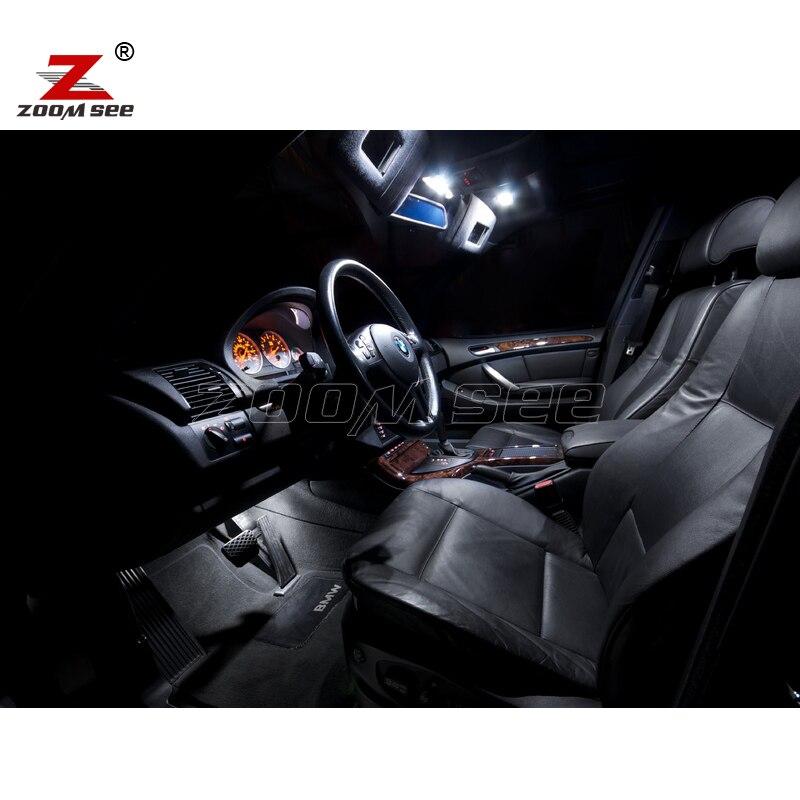 20 штук Светодиодный внутренний Купол Карта огни лампы для чтения Комплект посылка для BMW X5 E53(2000-2006