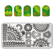 1Pc Rectangles Nail Plate Stamp DIY Stainless Steel Stamping Plates 6.5*12.5cm Nail Art Stamping Image Template Plates @SPV0130# недорого