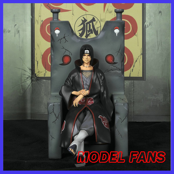 MODEL FANS IN-STOCK 20cm NARUTO Uchiha Itachi Amaterasu Sitting posture GK resin statue figure for Collection pu short wallet w colorful printing of naruto shippuden uchiha itachi