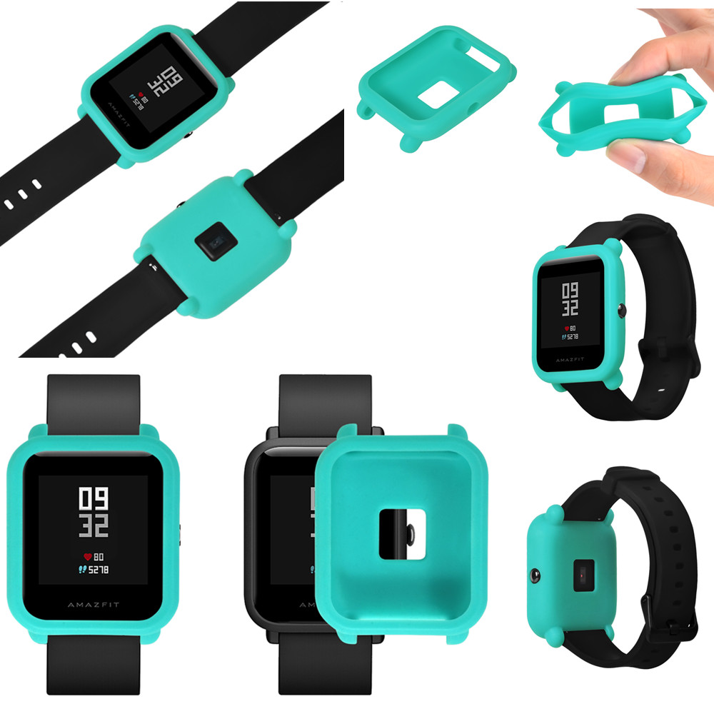 Silicone Watch Protector Case For Xiaomi Huami Amazfit Bip BIT PACE Lite Youth Colorful Soft Replacement Full Protective Cover